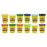 Play-Doh 12er-Pack mit Spielknete in Grundfarben, 112g-Dosen in...