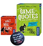 More Game of Quotes + Halt mal kurz, Kartenspiel von Marc-Uwe Kling +...