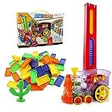 AKDSteel Domino Zug Spielzeug Set Rallye Elektrozug Modell mit 60 Stück...