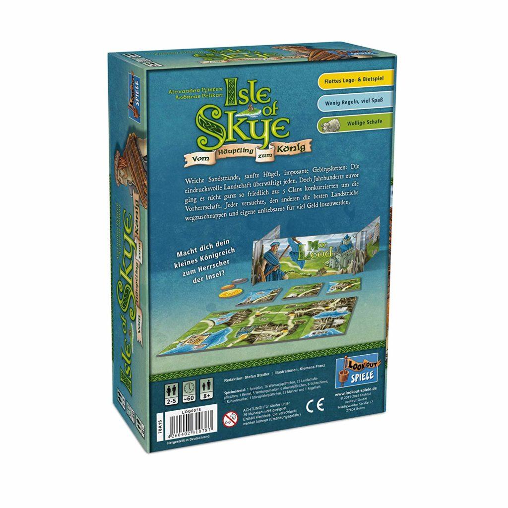 Isle of Skye: Rückseite der Spielverpackung