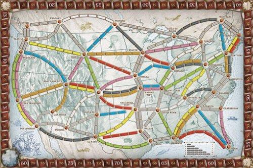 Spielplan von Zug um Zug