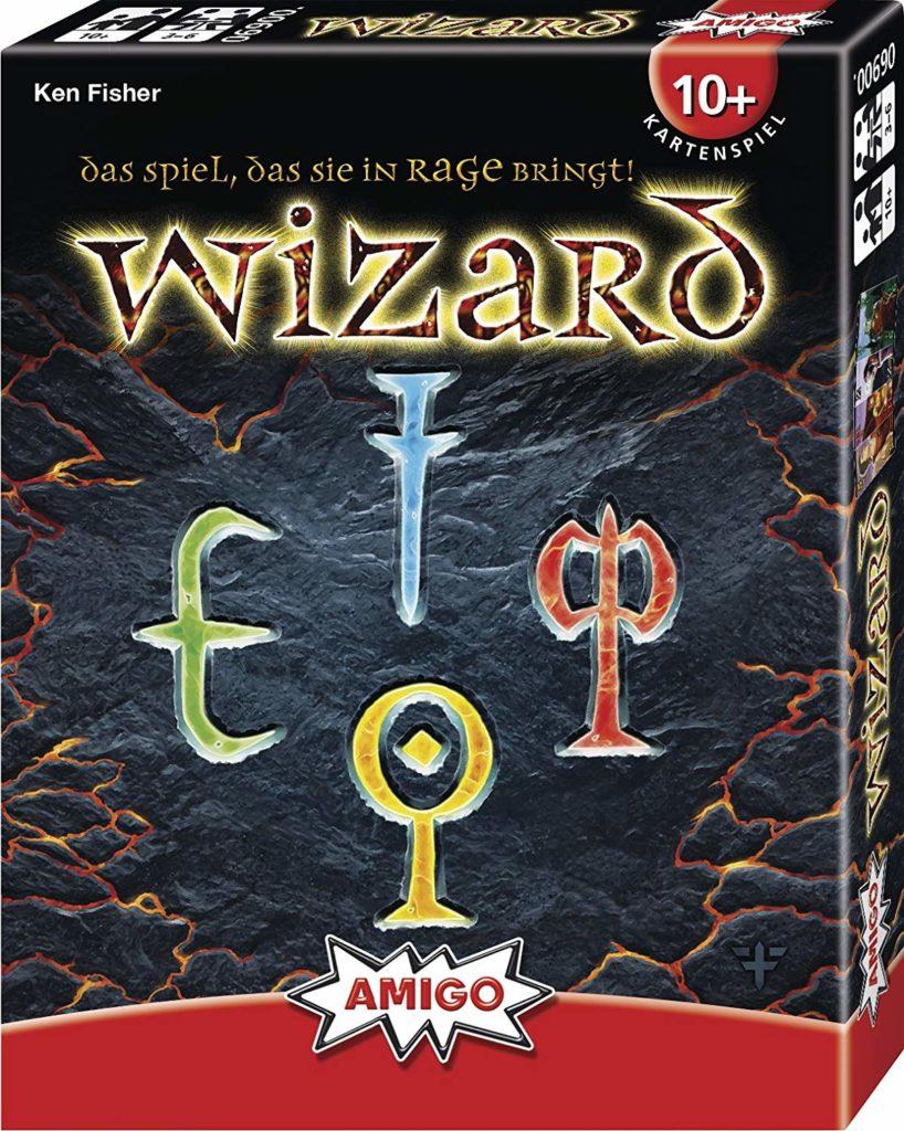 """Spielverpackung vom Kartenspiel """"Wizard""""."""