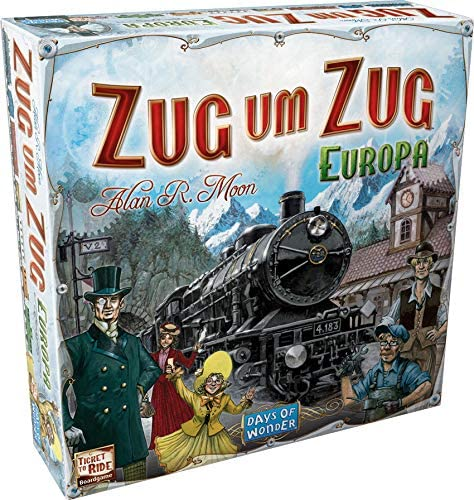 Spielverpackung von Zug um Zug Europa
